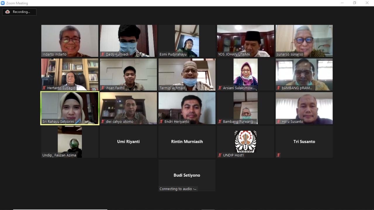 """Focus Group Discussion  MWA """"Penyusunan Peraturan MWA Hubungan dan Tata kerja Antarorgan Universitas Diponegoro"""""""