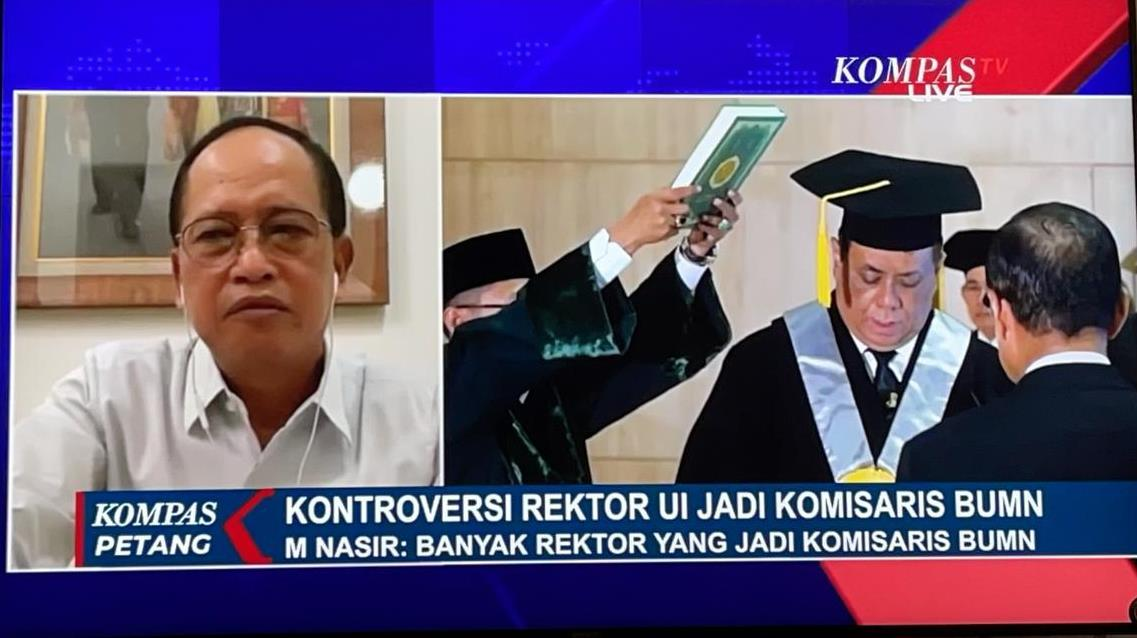 Wawancara Live Kompas TV dengan Ketua MWA UNDIP