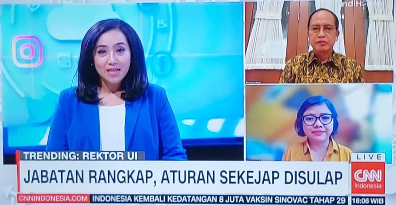 Wawancara Live CNN Indonesia dengan Ketua MWA UNDIP